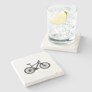 Dessous-de-verre En Pierre Griffonnage tiré par la main simple de bicyclette