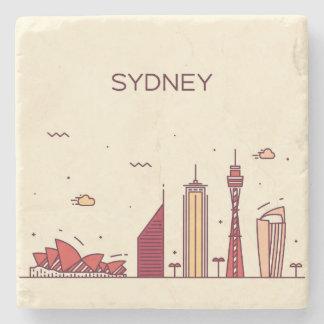 Dessous-de-verre En Pierre Horizon de griffonnage de Sydney, Australie |