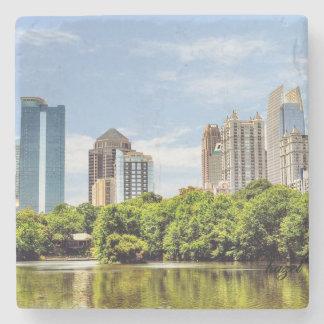 Dessous-de-verre En Pierre Horizon de parc de Piémont, été, Atlanta, la