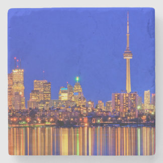 Dessous-de-verre En Pierre Horizon du centre de Toronto la nuit
