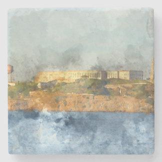 Dessous-de-verre En Pierre Île d'Alcatraz à San Francisco la Californie