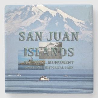 Dessous-de-verre En Pierre Îles d'ABH San Juan