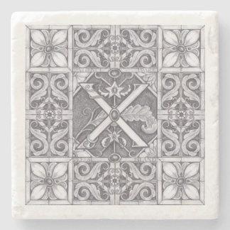 Dessous-de-verre En Pierre Illustration en pierre découpée par parc X de la