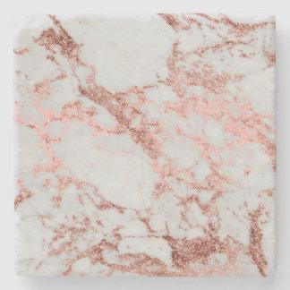 Dessous-de-verre En Pierre Image rose de texture de marbre de scintillement