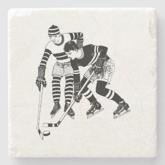 Dessous-de-verre En Pierre Joueurs de hockey vintages