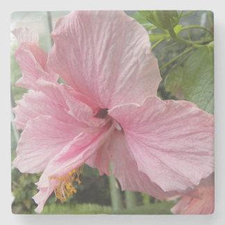 Dessous-de-verre En Pierre Ketmie rose rêveuse florale