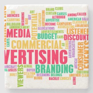 Dessous-de-verre En Pierre La publicité en ligne et dans la méthode