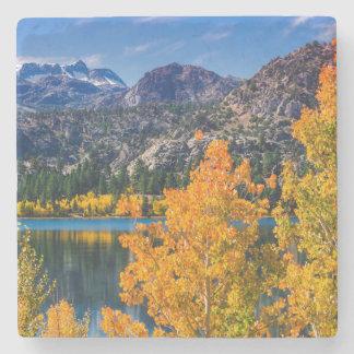 Dessous-de-verre En Pierre Lac autumn autour de juin, la Californie