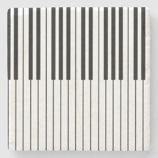 Dessous-de-verre En Pierre Le piano verrouille blanc et noir ens ivoire