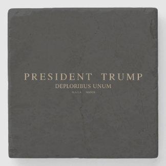 Dessous-de-verre En Pierre Le Président Trump. Deploribus Unum.