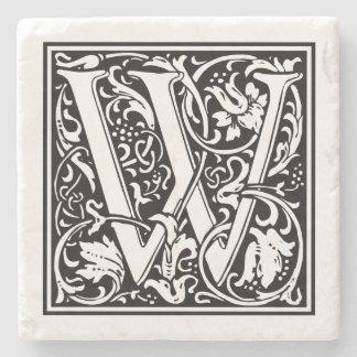 """Dessous-de-verre En Pierre Lettre vintage """"W """""""