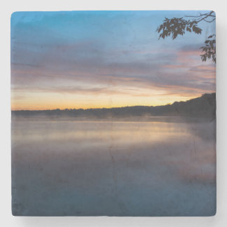 Dessous-de-verre En Pierre Lever de soleil d'automne de Springfield de lac