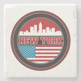Dessous-de-verre En Pierre L'horizon | Etats-Unis de New York diminuent