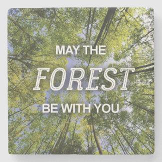Dessous-de-verre En Pierre Mai la forêt soit avec vous des dessous de verre