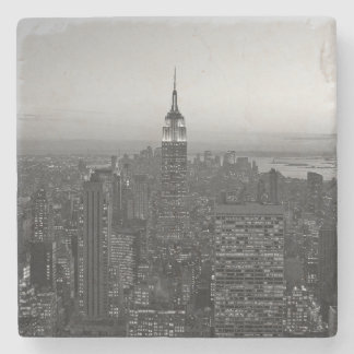 Dessous-de-verre En Pierre Manhattan noire et blanche