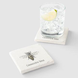 Dessous-de-verre En Pierre Manteau de l'abeille #2 des bras vintage