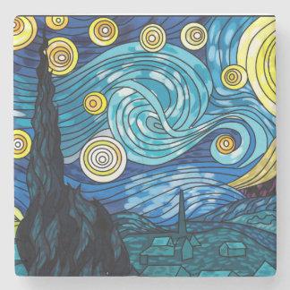 Dessous-de-verre En Pierre Marbre Coster de nuit étoilée