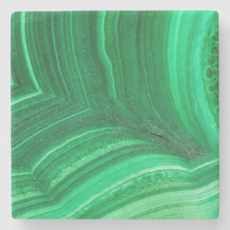 Dessous-de-verre En Pierre Minerai vert clair de malachite