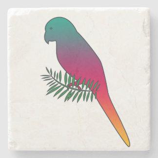 Dessous-de-verre En Pierre Oiseau coloré sur des dessous de verre de pierre