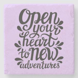 Dessous-de-verre En Pierre Ouvrez votre coeur à de nouvelles aventures
