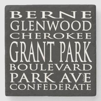 Dessous-de-verre En Pierre Parc de Grant, Atlanta, la Géorgie, rues, dessous