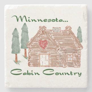 Dessous-de-verre En Pierre Pays de cabine du Minnesota