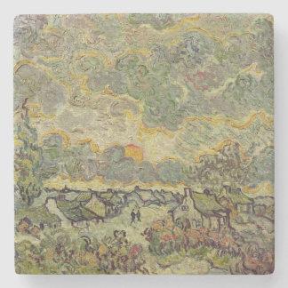 Dessous-de-verre En Pierre Paysage d'automne de Vincent van Gogh |, 1890