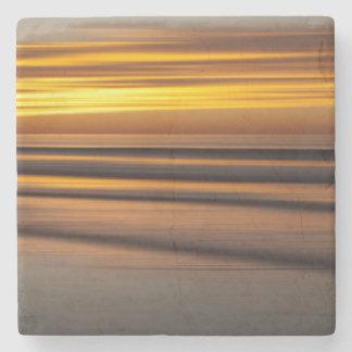 Dessous-de-verre En Pierre Paysage marin abstrait au coucher du soleil, CA