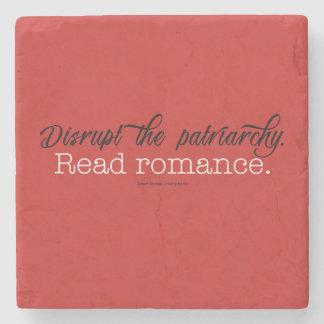 Dessous-de-verre En Pierre Perturbez le Romance lu par patriarcat. Lapidez