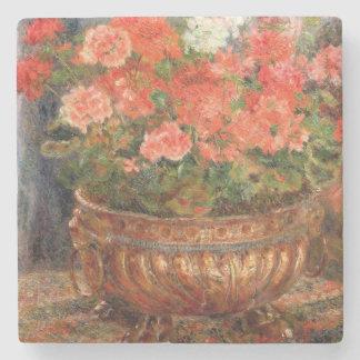 Dessous-de-verre En Pierre Pierre géraniums de Renoir un | dans un bassin de