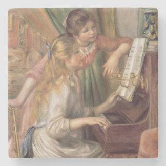 Dessous-de-verre En Pierre Pierre jeunes filles de Renoir un | au piano