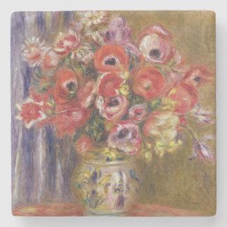 Dessous-de-verre En Pierre Pierre un vase à Renoir | de tulipes et d'anémones