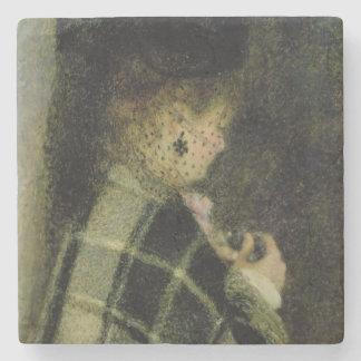 Dessous-de-verre En Pierre Pierre une jeune femme de Renoir | avec un petit