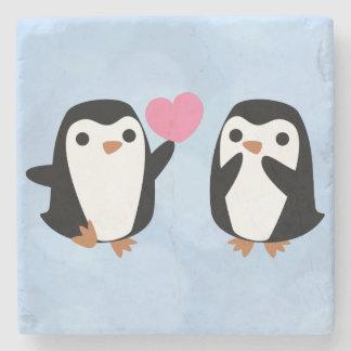 Dessous-de-verre En Pierre Pingouins dans l'amour