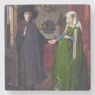 Dessous-de-verre En Pierre Portrait 1434 de JANV. VAN EYCK- Arnolfini