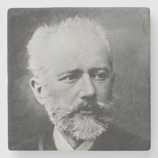 Dessous-de-verre En Pierre Portrait de photo de Tchaikovsky