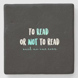 Dessous-de-verre En Pierre Pour lire ou ne pas lire…