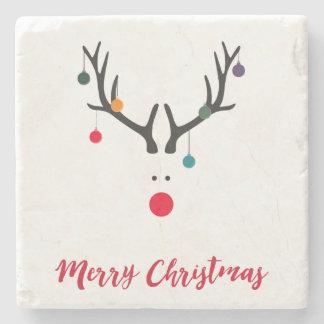 Dessous-de-verre En Pierre Renne moderne minimaliste de Joyeux Noël