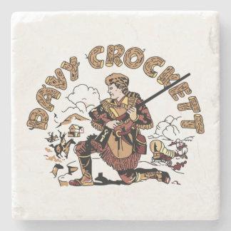 Dessous-de-verre En Pierre Rétro Davy Crockett