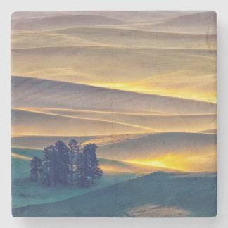 Dessous-de-verre En Pierre Rolling Hills de blé au lever de soleil | WA