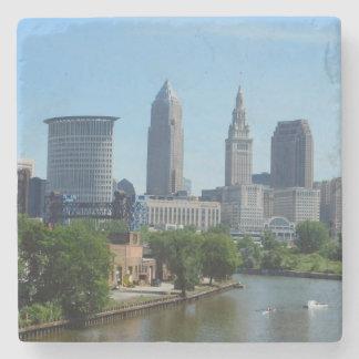 Dessous-de-verre En Pierre Roulement de Cleveland, OH sur les dessous de