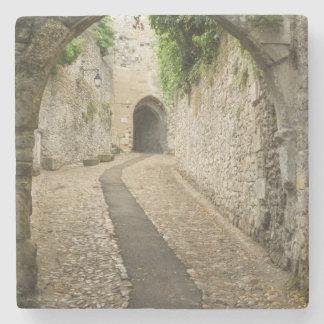 Dessous-de-verre En Pierre Rue grise de pavé rond, France