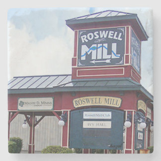 Dessous-de-verre En Pierre Signe de moulin de Roswell, Roswell la Géorgie,