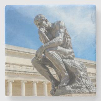 Dessous-de-verre En Pierre Statue de penseur de Rodin