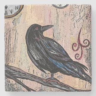 Dessous-de-verre En Pierre Steampunk Raven et horloges