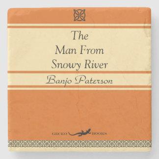 Dessous-de-verre En Pierre Style de Paterson de banjo rétro