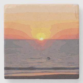 DESSOUS-DE-VERRE EN PIERRE SUNRISE-SUNSET