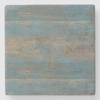 Dessous-de-verre En Pierre Texture bleue en bois de plage de Faux