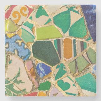 Dessous-de-verre En Pierre Tuiles vertes de Parc Guell à Barcelone Espagne