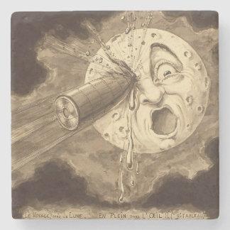 Dessous-de-verre En Pierre Un voyage au dessin vintage de lune